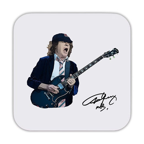 ACDC Angus Young Drinks Coaster 9 x 9cm