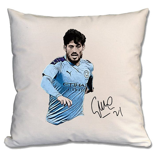 David Silva Manchester City Large Cushion