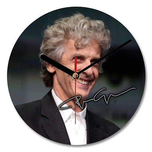 Peter Capaldi - Doctor Who Autographed Wall Clock