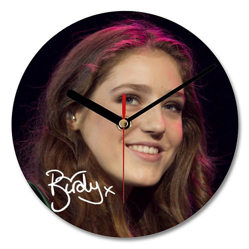 Birdy Autographed Wall Clock