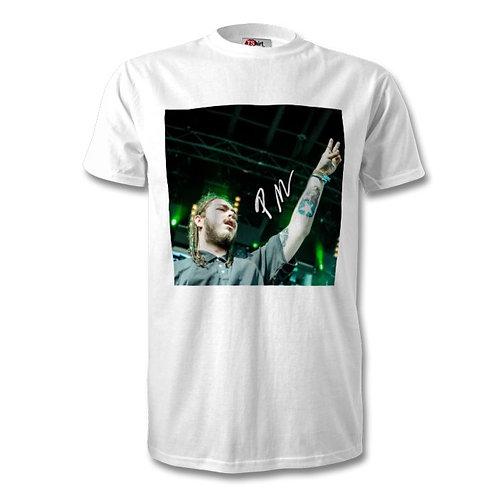 Post Malone Autographed Mens Fashion T-Shirt