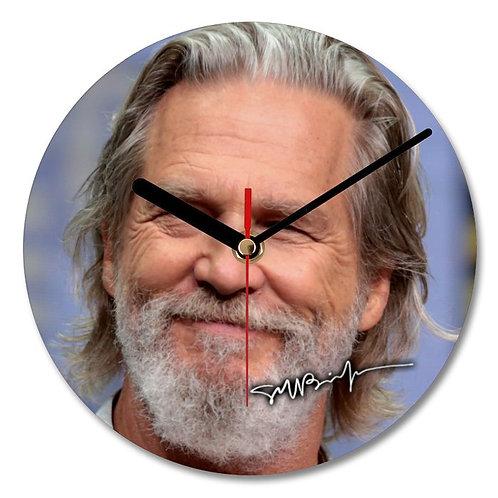 Jeff Bridges Autographed Wall Clock