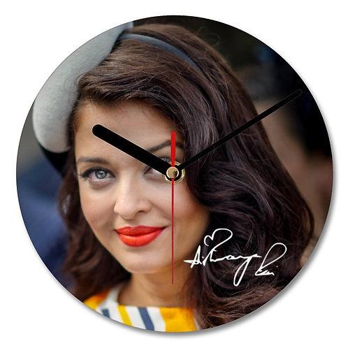 Aishwarya Rai Autographed Wall Clock