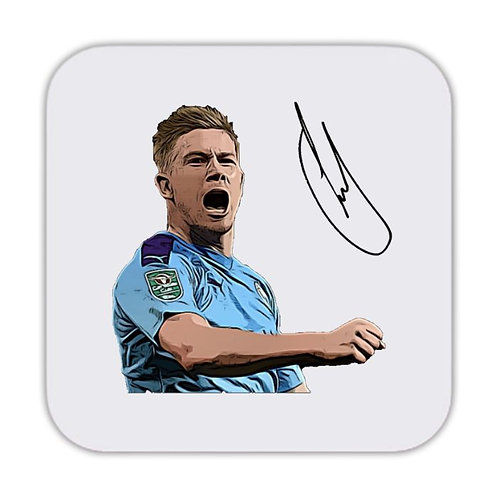 Kevin De Bruyne Manchester City Drinks Coaster 9 x 9cm