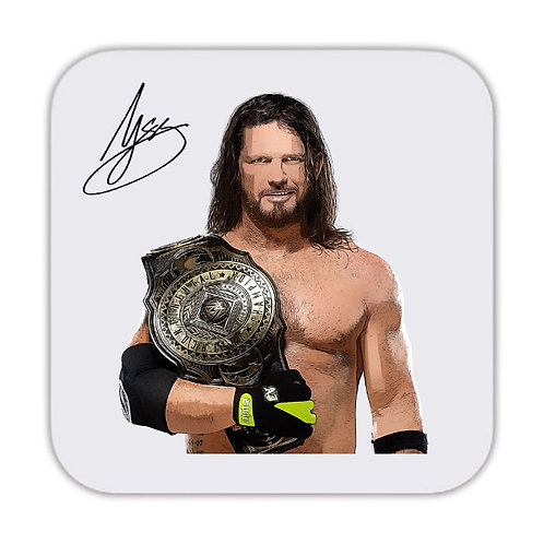 AJ Styles Wrestling Drinks Coaster 9 x 9cm