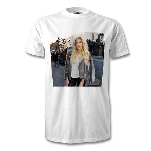 Ellie Goulding Autographed Mens Fashion T-Shirt
