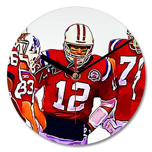 Tom Brady - New England Patriots - NFL Autographed Wall Clock