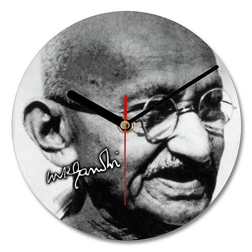 Mahatma Ghandi Autographed Wall Clock