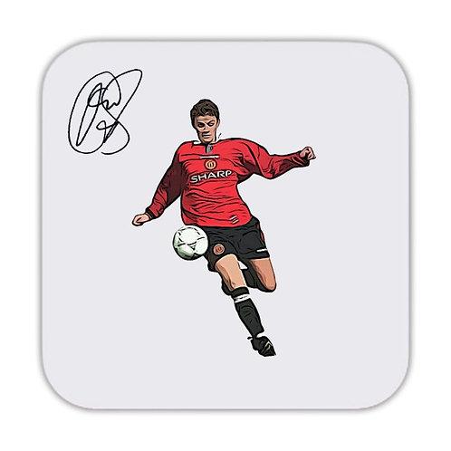 Ole Gunnar Solskjaer Manchester United Drinks Coaster 9 x 9cm