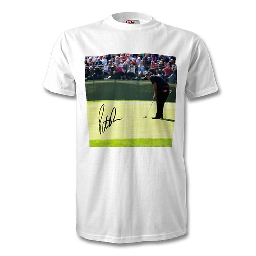 Patrick Reed Masters Golf Autographed Mens Fashion T-Shirt