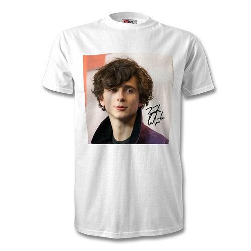 Timothee Chalamet Autographed Mens Fashion T-Shirt
