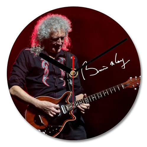 Brian May - Queen Autographed Wall Clock