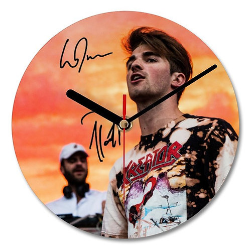 The Chainsmokers Autographed Wall Clock