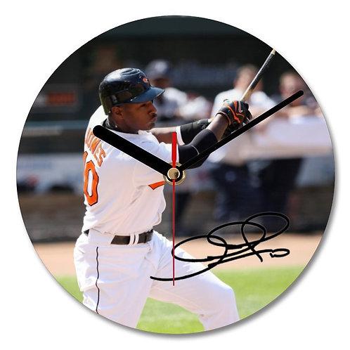 Adam Jones - Baltimore Orioles - MLB Autographed Wall Clock
