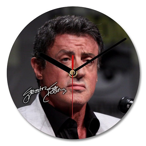 Sylvester Stallone Autographed Wall Clock