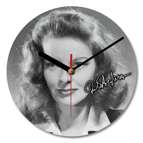 Rita Hayworth Autographed Wall Clock