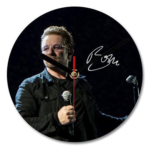 Bono - U2 Autographed Wall Clock