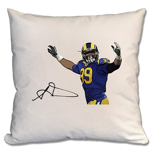 Aaron Donald Los Angeles Rams Large Cushion