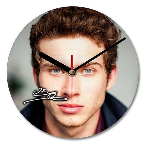 Oliver Stark Autographed Wall Clock