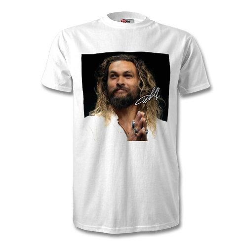 Jason Momoa Game of Thrones Autographed Mens Fashion T-Shirt