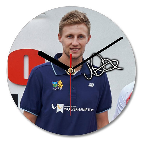 Joe Root - Yorkshire - England Cricket Autographed Wall Clock