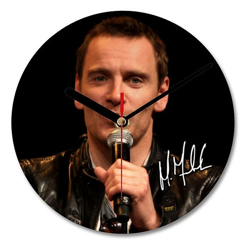 Michael Fassbender Autographed Wall Clock