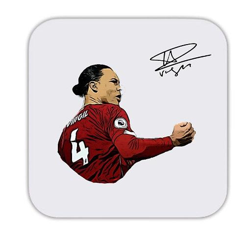Virgil Van Dijk Liverpool Drinks Coaster 9 x 9cm