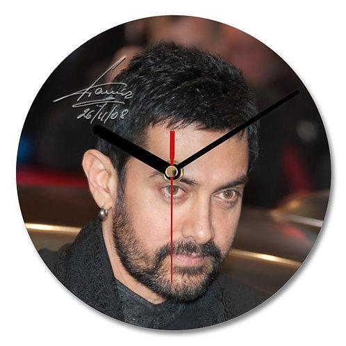 Aamir Khan Autographed Wall Clock