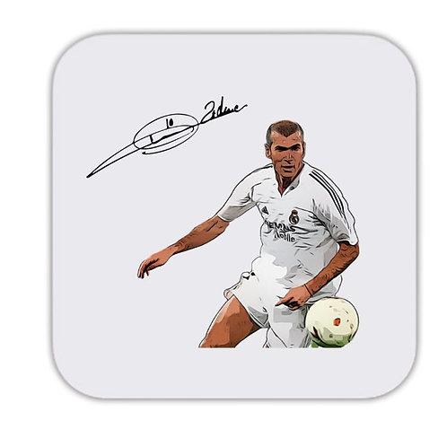 Zinedine Zidane Real Madrid Drinks Coaster 9 x 9cm