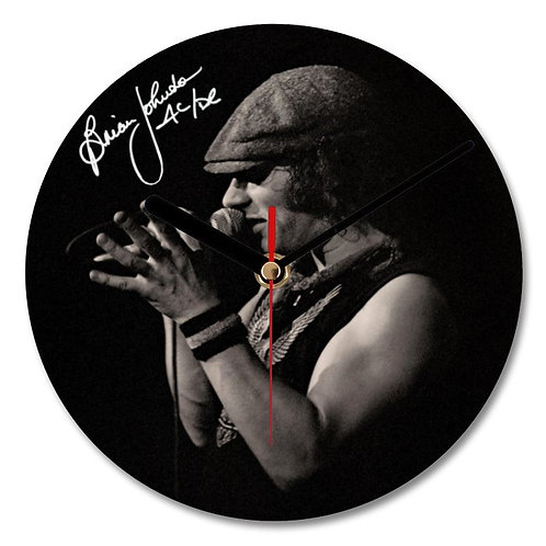 Brian Johnson - ACDC Autographed Wall Clock