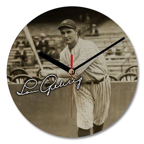 Lou Gehrig - New York Yankees - MLB - Baseball Autographed Wall Clock