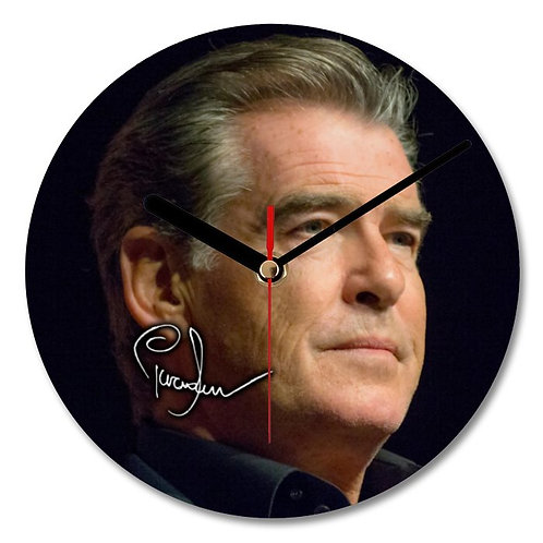 Pierce Brosnan - 007 - James Bond Autographed Wall Clock