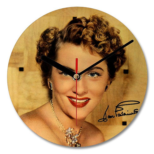 Joan Fontaine Autographed Wall Clock
