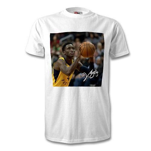 Victor Oladipo Indiana Pacers NBA Autographed Mens Fashion T-Shirt