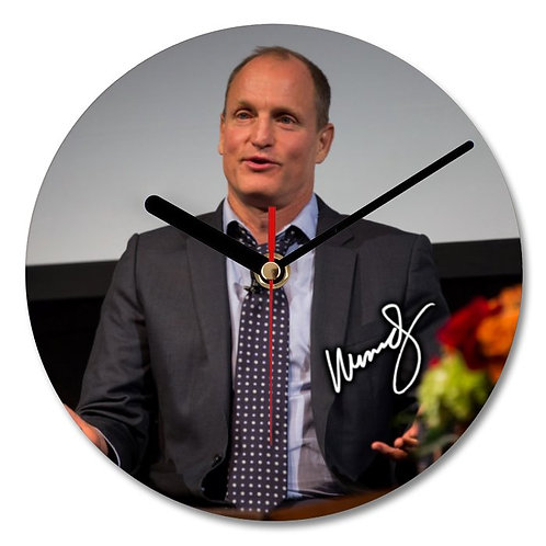Woody Harrelson Autographed Wall Clock