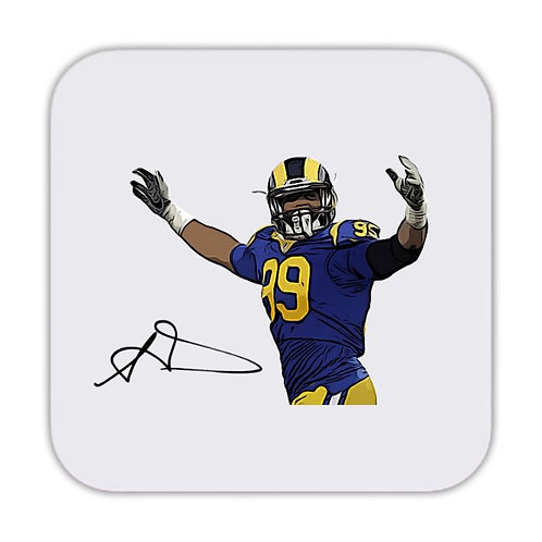 Aaron Donald Los Angeles Rams Drinks Coaster 9 x 9cm