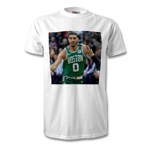 Jayson Tatum Boston Celtics -NBA Autographed Mens Fashion T-Shirt