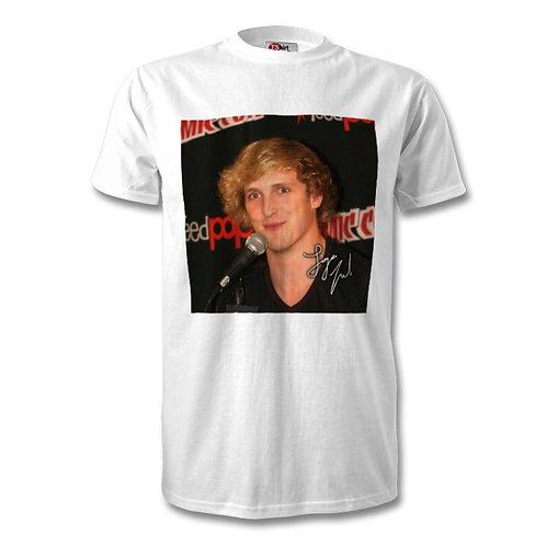 Logan Paul Autographed Mens Fashion T-Shirt