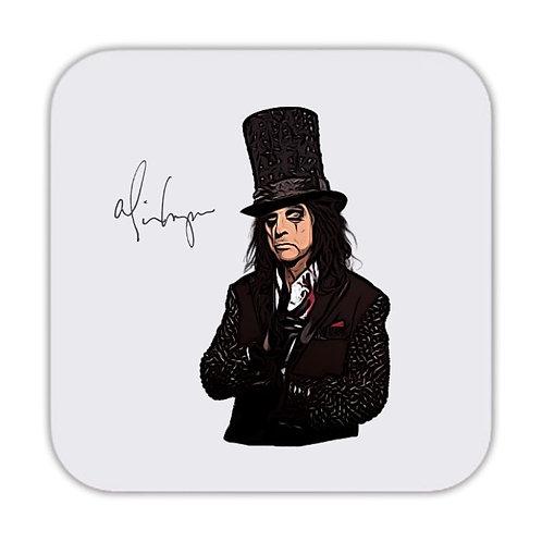 Alice Cooper Drinks Coaster 9 x 9cm