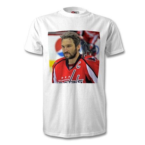 Alex Ovechkin Washington Capitals NFL Autographed Mens Fashion T-Shirt