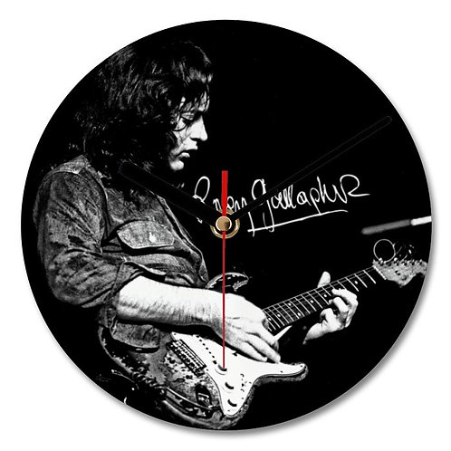 Rory Gallagher Autographed Wall Clock