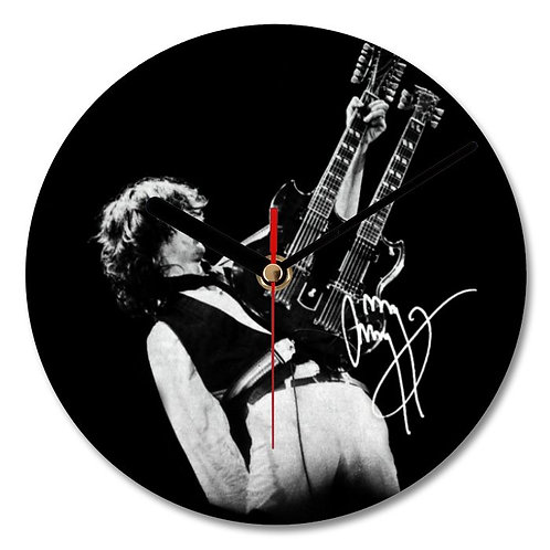 Jimmy Page - Led Zeppelin Autographed Wall Clock