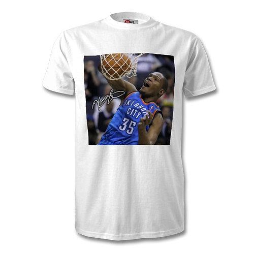 Kevin Durant Oklahoma City Thunder NBA Autographed Mens Fashion T-Shirt