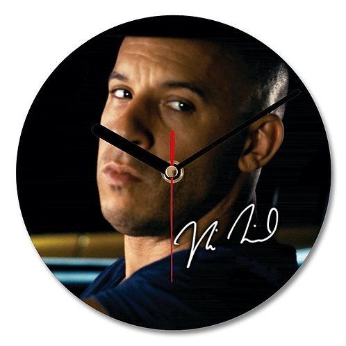 Vin Diesel - Fast - Furious Autographed Wall Clock