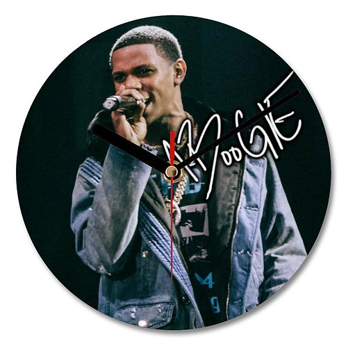 A Boogie Wit Da Hoodie Autographed Wall Clock