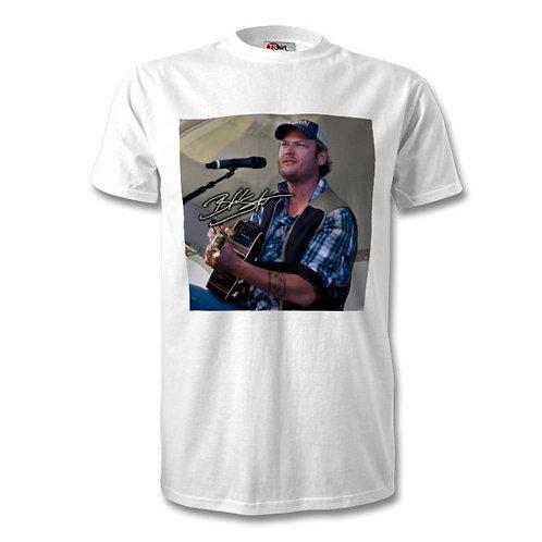 Blake Shelton Autographed Mens Fashion T-Shirt