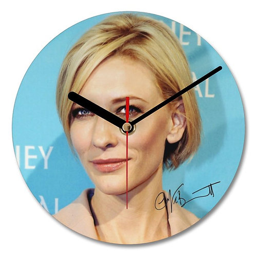 Cate Blanchett Autographed Wall Clock