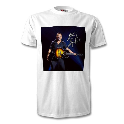 Bruce Springsteen Autographed Mens Fashion T-Shirt