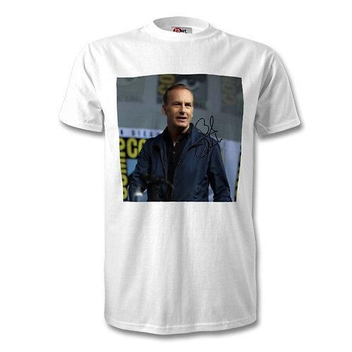 Bob Odenkirk Better Call Saul Saul Goodman Autographed Mens Fashion T-Shirt