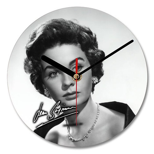 Jean Simmons Autographed Wall Clock